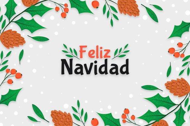 Ręcznie rysowane feliz navidad