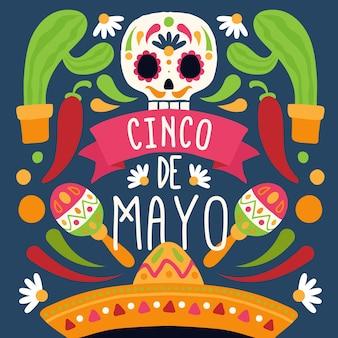 Ręcznie rysowane fesitive motyw cinco de mayo