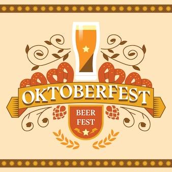 Ręcznie rysowane festiwal oktoberfest