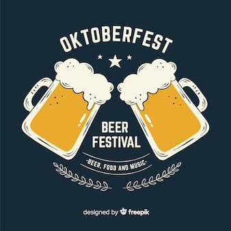 Ręcznie rysowane festiwal piwa oktoberfest