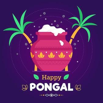 Ręcznie rysowane festiwal pongalski
