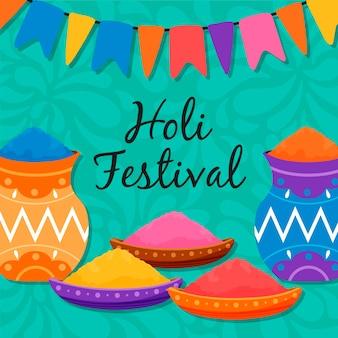 Ręcznie rysowane festiwalu holi