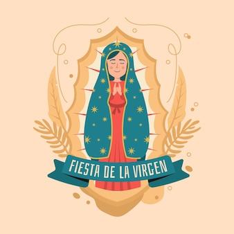 Ręcznie rysowane fiesta de la virgen