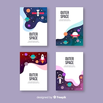 Ręcznie rysowane galaktyki plakat