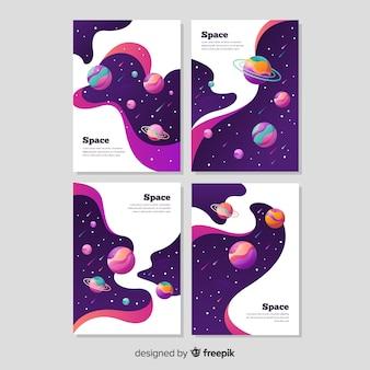 Ręcznie rysowane galaxy banner pack