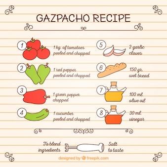 Ręcznie rysowane gaspacho przepis