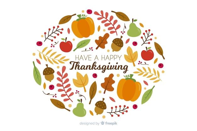 Ręcznie rysowane glob tradycyjnych elementów święto dziękczynienia