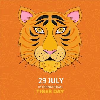 Ręcznie rysowane globalny dzień tygrysa