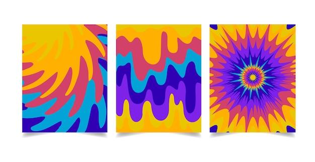 Ręcznie rysowane groovy okładki