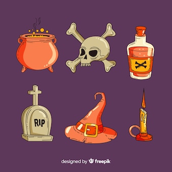 Ręcznie rysowane halloween element kolekcji