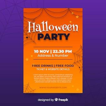 Ręcznie rysowane halloween party plakat szablon