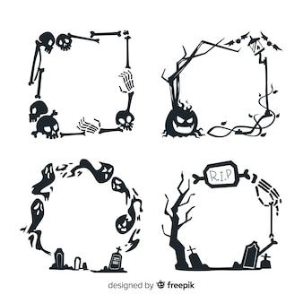 Ręcznie rysowane halloween ramki
