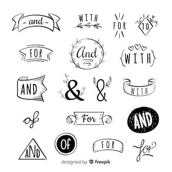 Ręcznie rysowane hasło ślubne
