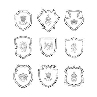 Ręcznie rysowane heraldyczne