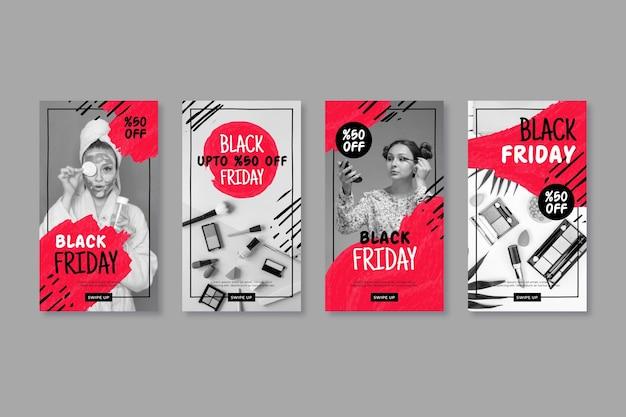 Ręcznie rysowane historie na instagramie w czarny piątek