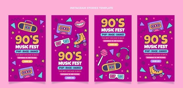 Ręcznie rysowane historie o festiwalu muzycznym z lat 90.
