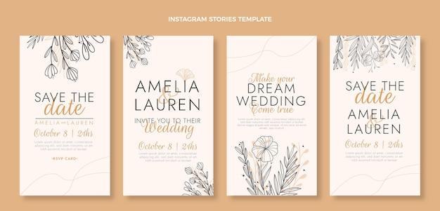 Ręcznie rysowane historie ślubne ig