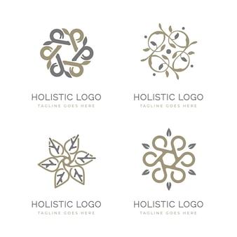 Ręcznie rysowane holistyczna kolekcja logo