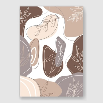 Ręcznie rysowane ilustracja abstrakcyjny kształt