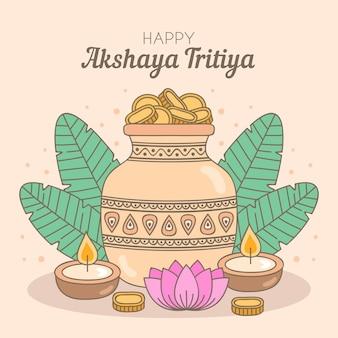 Ręcznie rysowane ilustracja akshaya tritiya