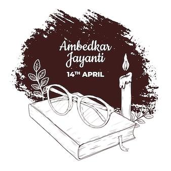 Ręcznie rysowane ilustracja ambedkar jayanti