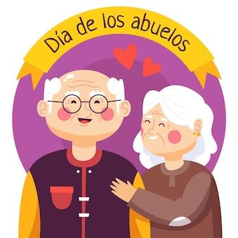 Ręcznie rysowane ilustracja dia de los abuelos