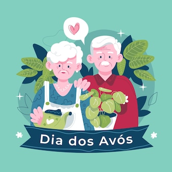 Ręcznie rysowane ilustracja dia dos avos