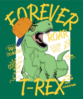 Ręcznie rysowane ilustracja dinozaurów