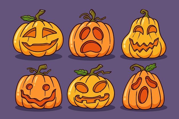 Ręcznie rysowane ilustracja dynie halloween