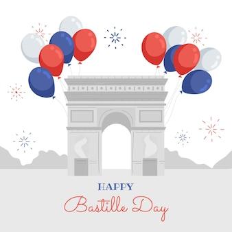 Ręcznie rysowane ilustracja dzień bastylii