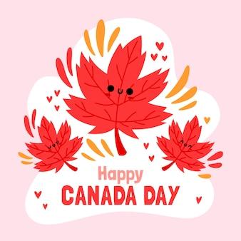 Ręcznie rysowane ilustracja dzień kanady