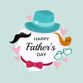 Ręcznie Rysowane Ilustracja Dzień Ojca Darmowych Wektorów
