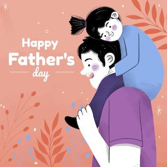 Ręcznie rysowane ilustracja dzień ojca