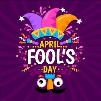 Ręcznie rysowane ilustracja dzień prima aprilis