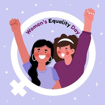Ręcznie rysowane ilustracja dzień równości kobiet