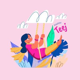 Ręcznie rysowane ilustracja festiwalu teej