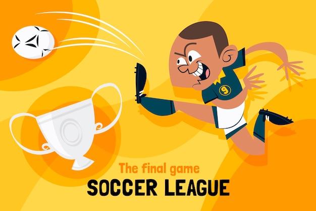 Ręcznie rysowane ilustracja finał ligi piłki nożnej