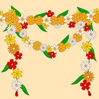 Ręcznie rysowane ilustracja girlanda ugadi