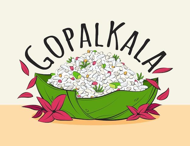 Ręcznie rysowane ilustracja gopalkala