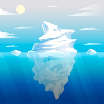 Ręcznie rysowane ilustracja góry lodowej