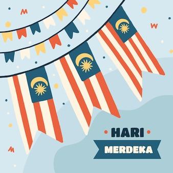 Ręcznie rysowane ilustracja hari merdeka