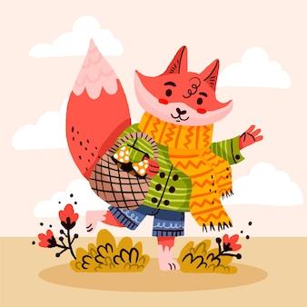 Ręcznie rysowane ilustracja jesień