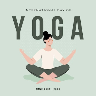 Ręcznie rysowane ilustracja jogi koncepcji