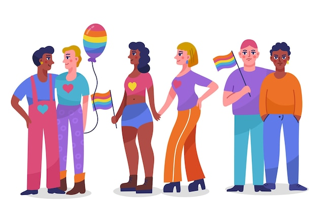 Ręcznie rysowane ilustracja kolekcja dzień dumy