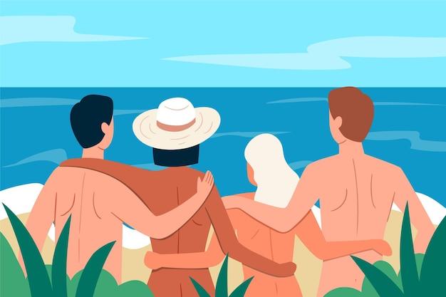 Ręcznie rysowane ilustracja koncepcja naturyzmu