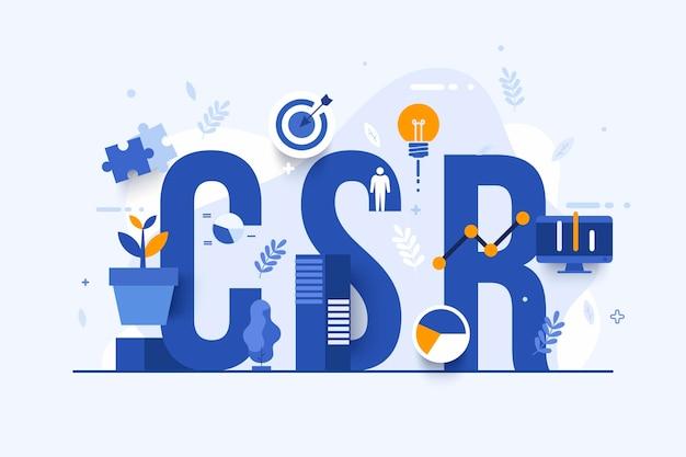 Ręcznie rysowane ilustracja koncepcja społecznej odpowiedzialności biznesu