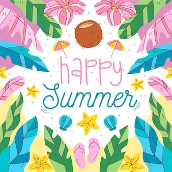 Ręcznie rysowane ilustracja lato