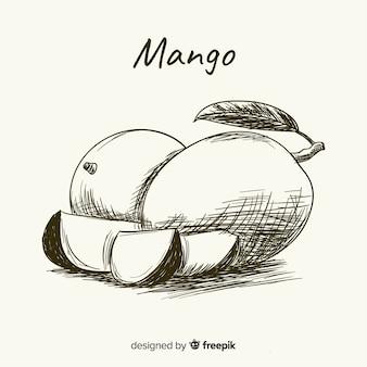 Ręcznie rysowane ilustracja mango