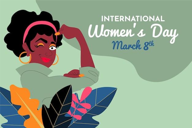 Ręcznie rysowane ilustracja międzynarodowy dzień kobiet