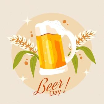 Ręcznie rysowane ilustracja międzynarodowy dzień piwa